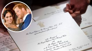prince harry meghan markle wedding invitation