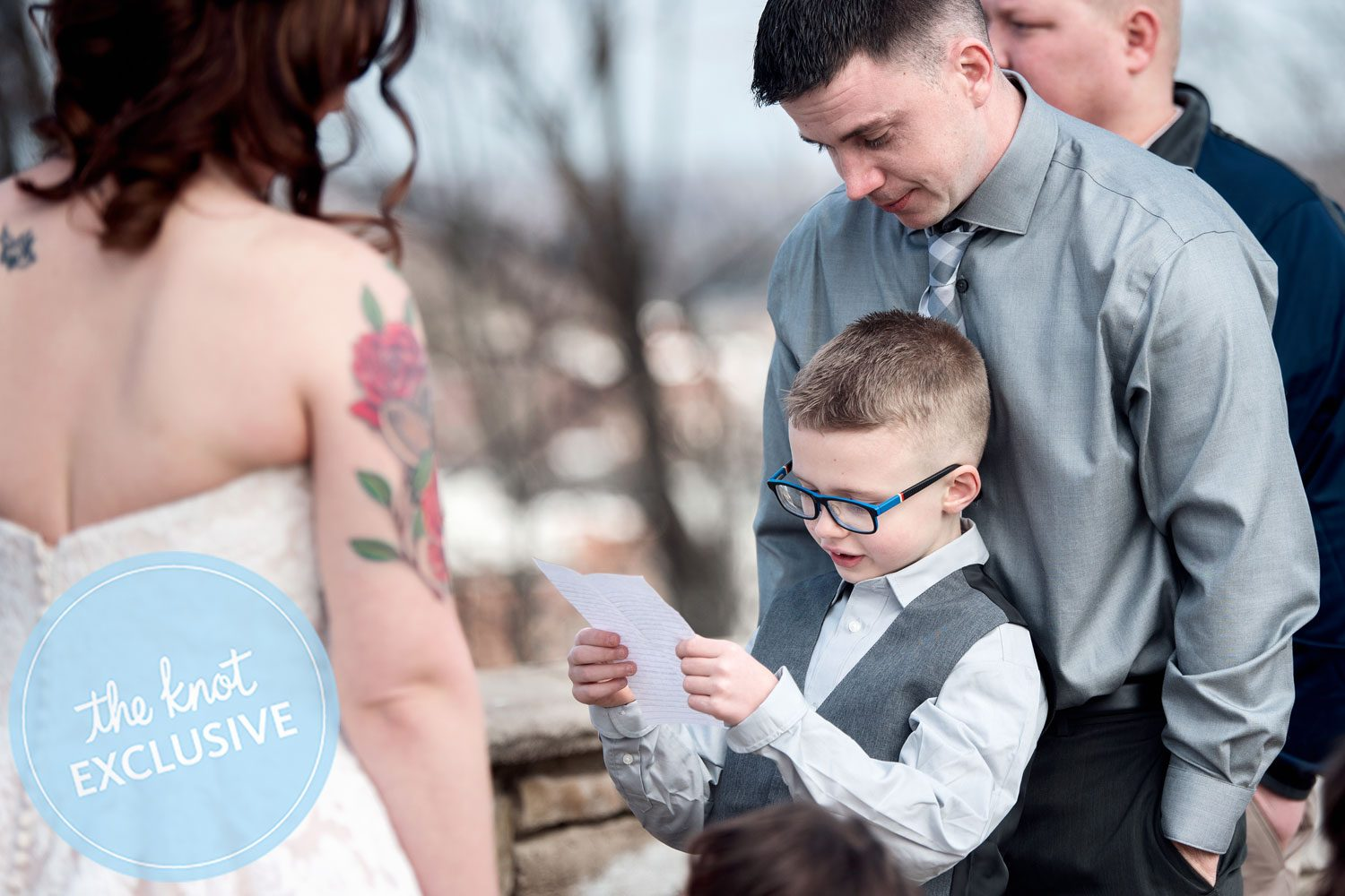 Grooms Son 7 Adorably Finishes Vows After His Dad Breaks Into Tears