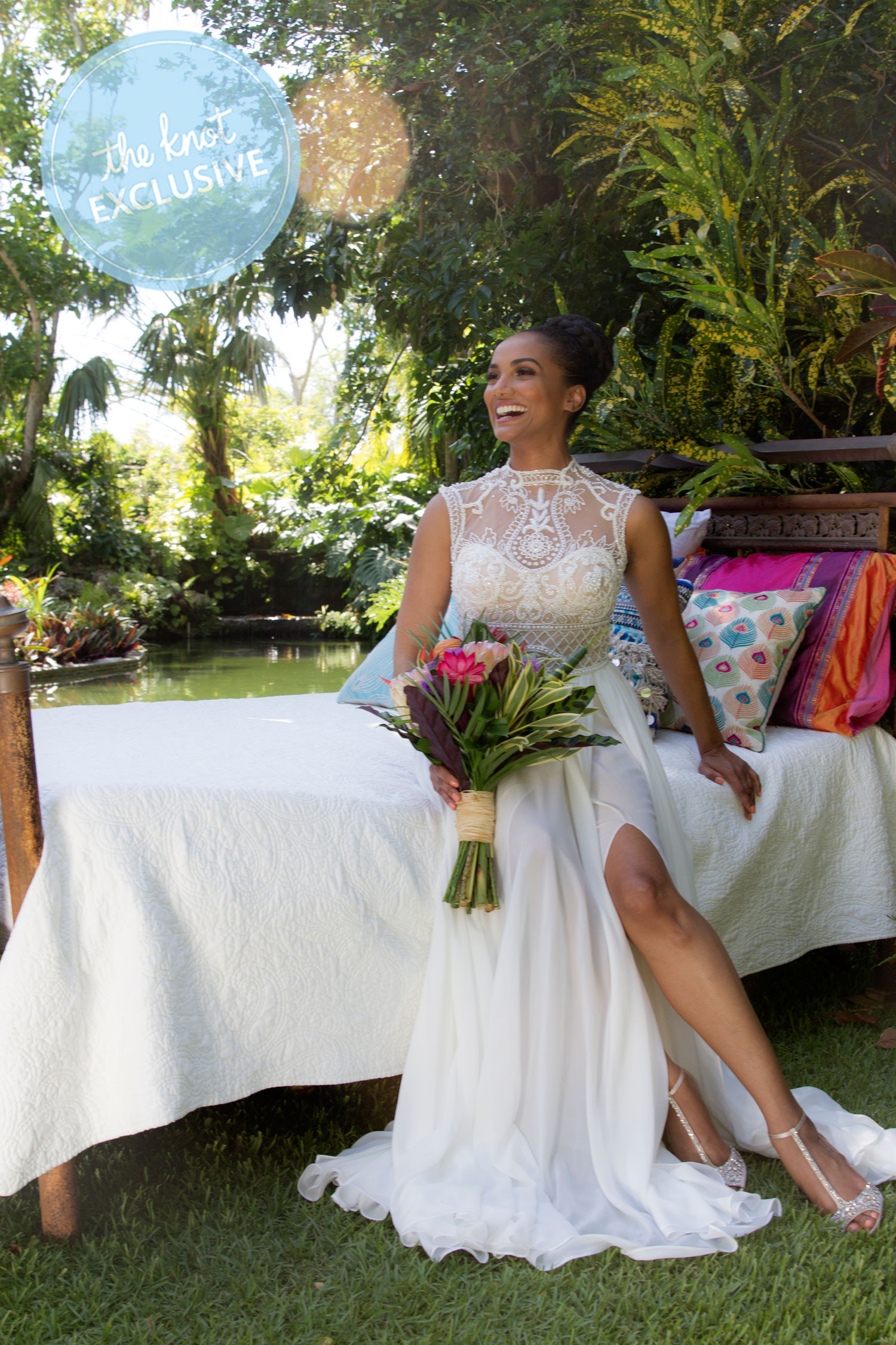 Exclusive: Once Upon a Time\'s Mekia Cox Marries in Caribbean Wedding