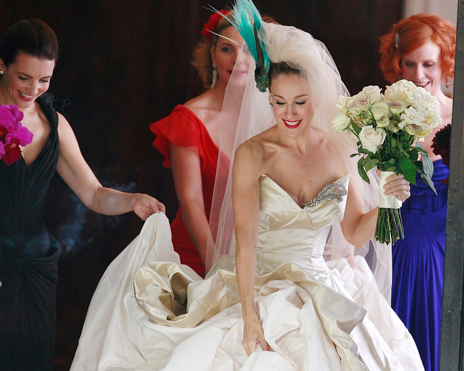 Sarah jessica parker 39 s new bridal line is from your for Sarah jessica parker wedding dress