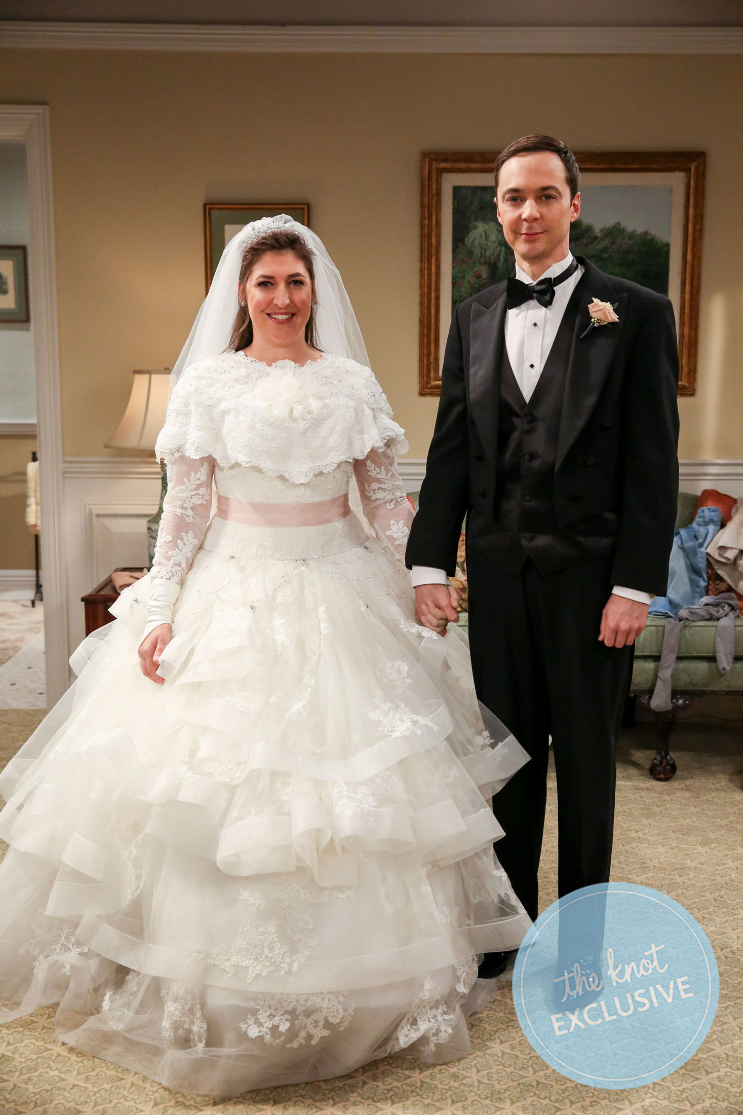 Sheldon And Amy Wedding.Exclusive Sheldon And Amy S Big Bang Theory Wedding Album