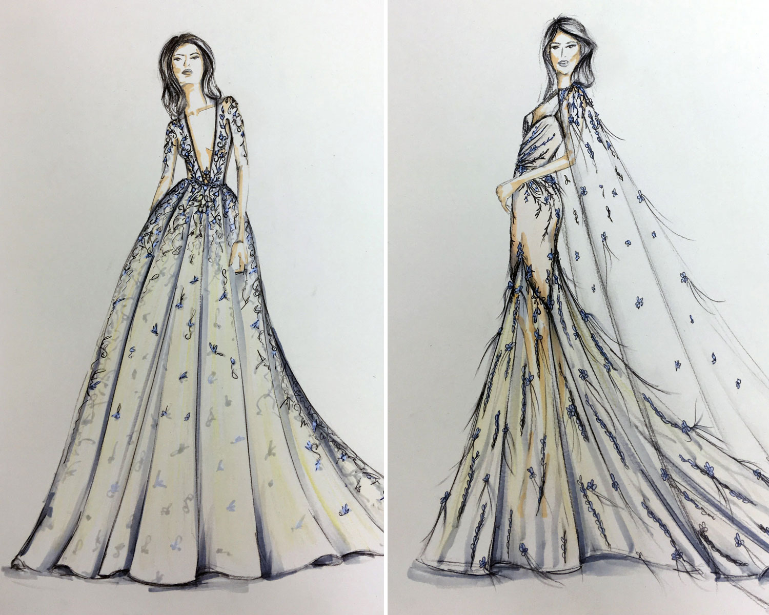 Meghan Markle Gown Berta: Fashion Sketches Italian Wedding Dresses At Websimilar.org