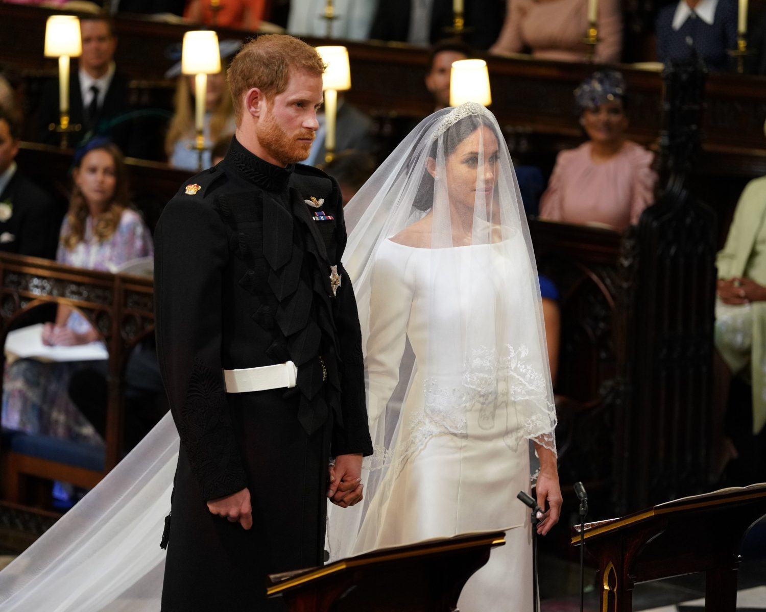 Prince Harry Personally Thanked Meghan Markle S Wedding Dress Designer