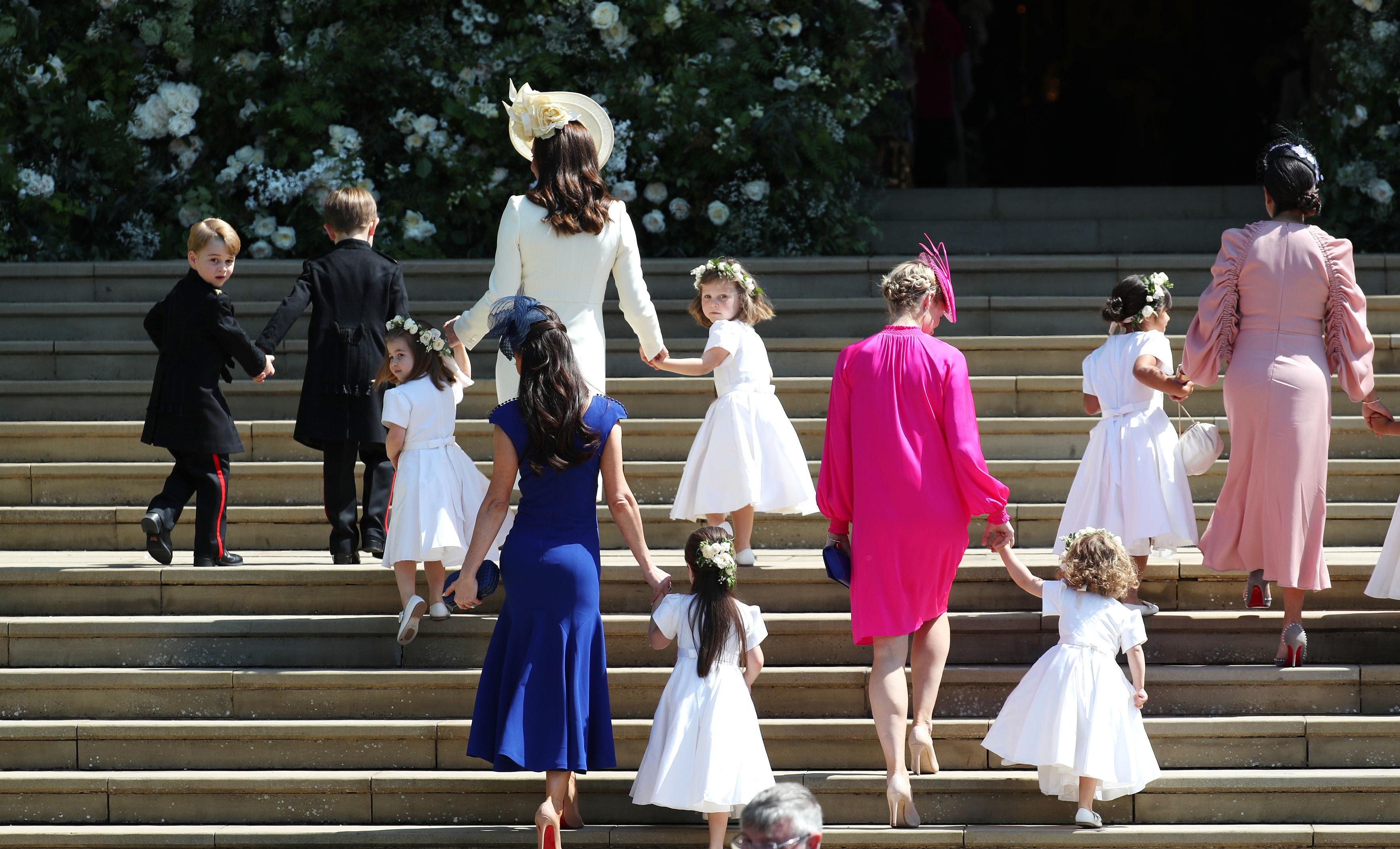 Prince George And Princess Charlotte Lead The Royal