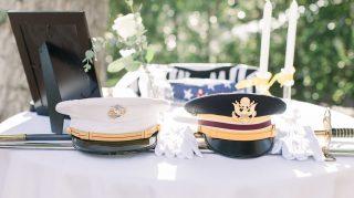 memorial table memorial day wedding