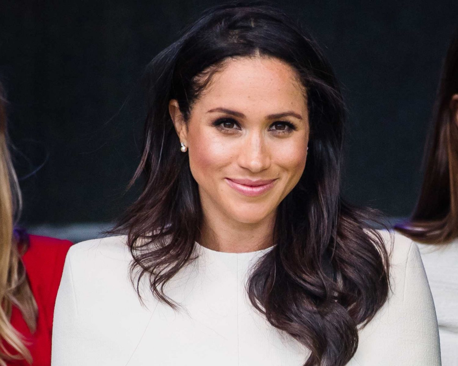meghan markle stacked her wedding band and engagement ring for solo appearance with queen meghan markle stacked her wedding band