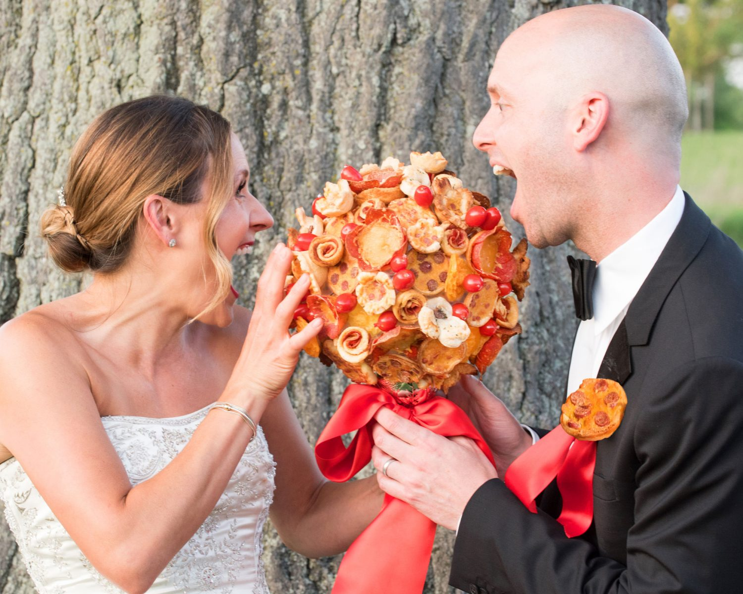 Pizza Bouquets and Boutonnieres Are Now a Thing and That's Amore