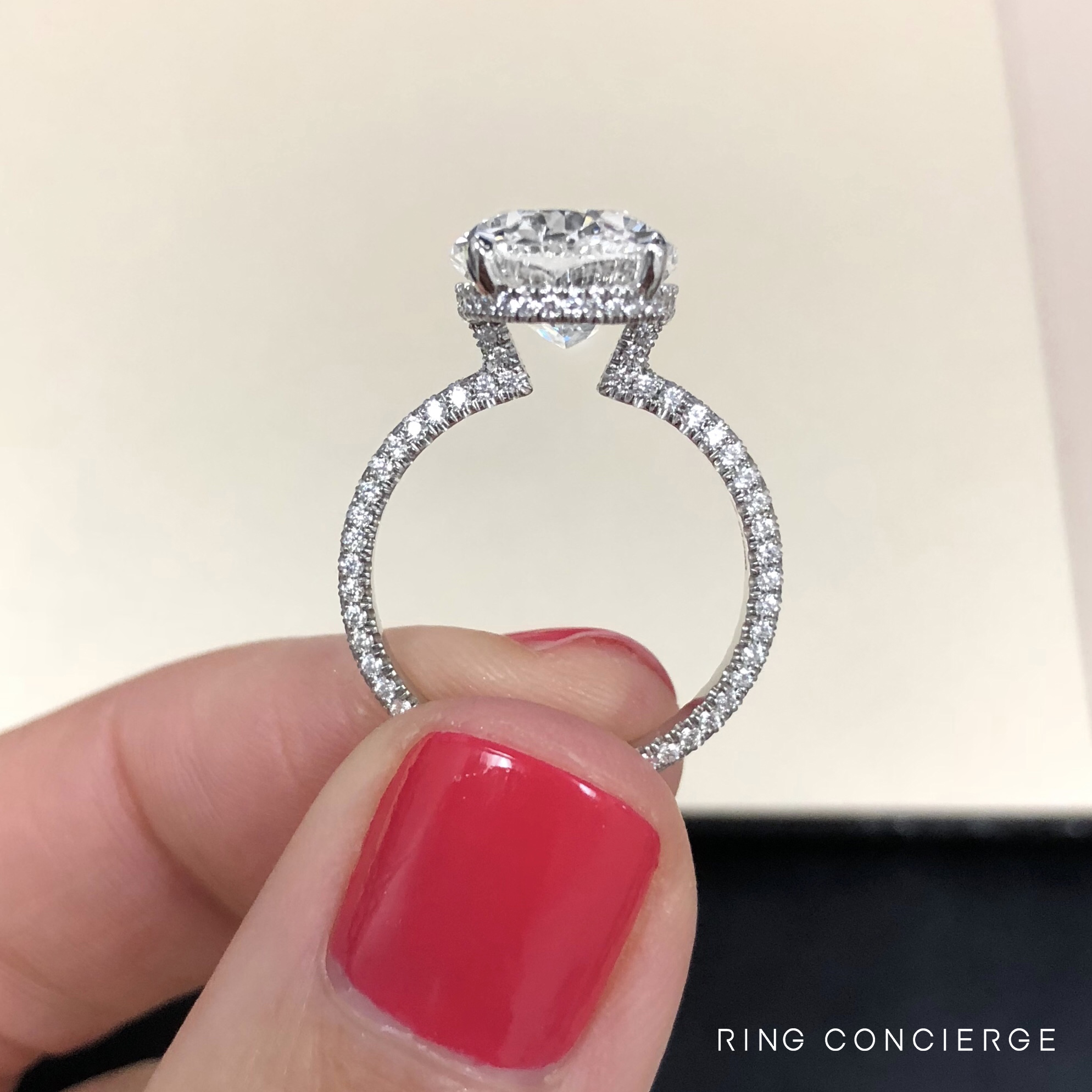 Exclusive Model Dev Windsor S Oval Engagement Ring Has A