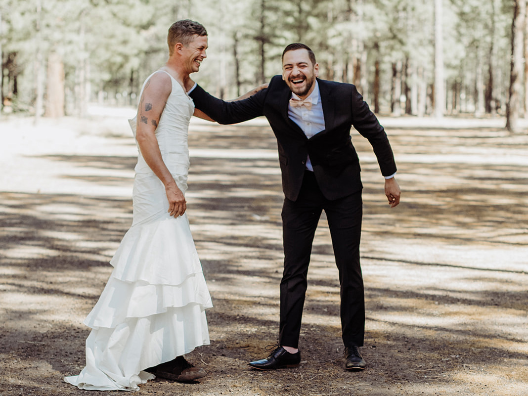 Bride Sends Her Brother Out In A Wedding Dress For First Look See