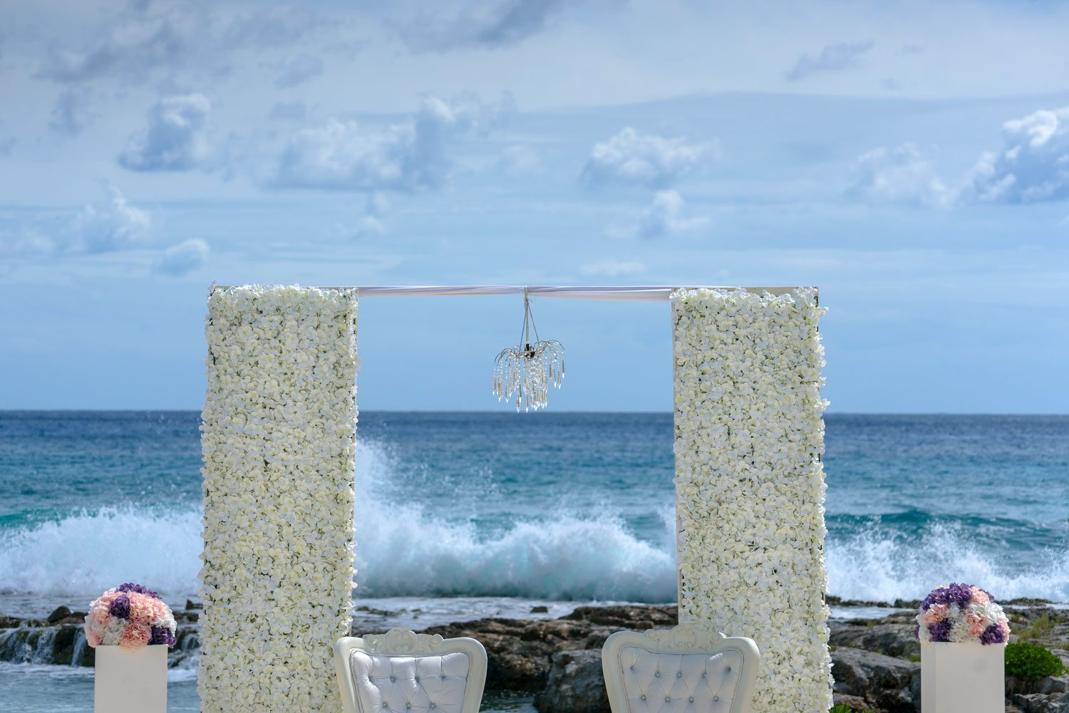 beach storm wedding