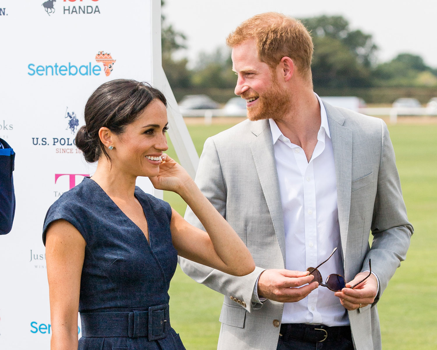 4730380fff Meghan Markle Cheers on Prince Harry at Sentebale Polo Match