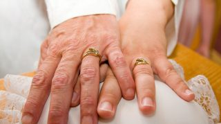 vow renewal hands