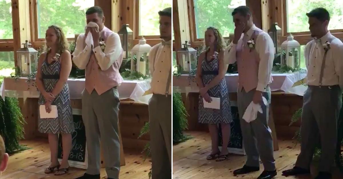 emotional groom dan shay