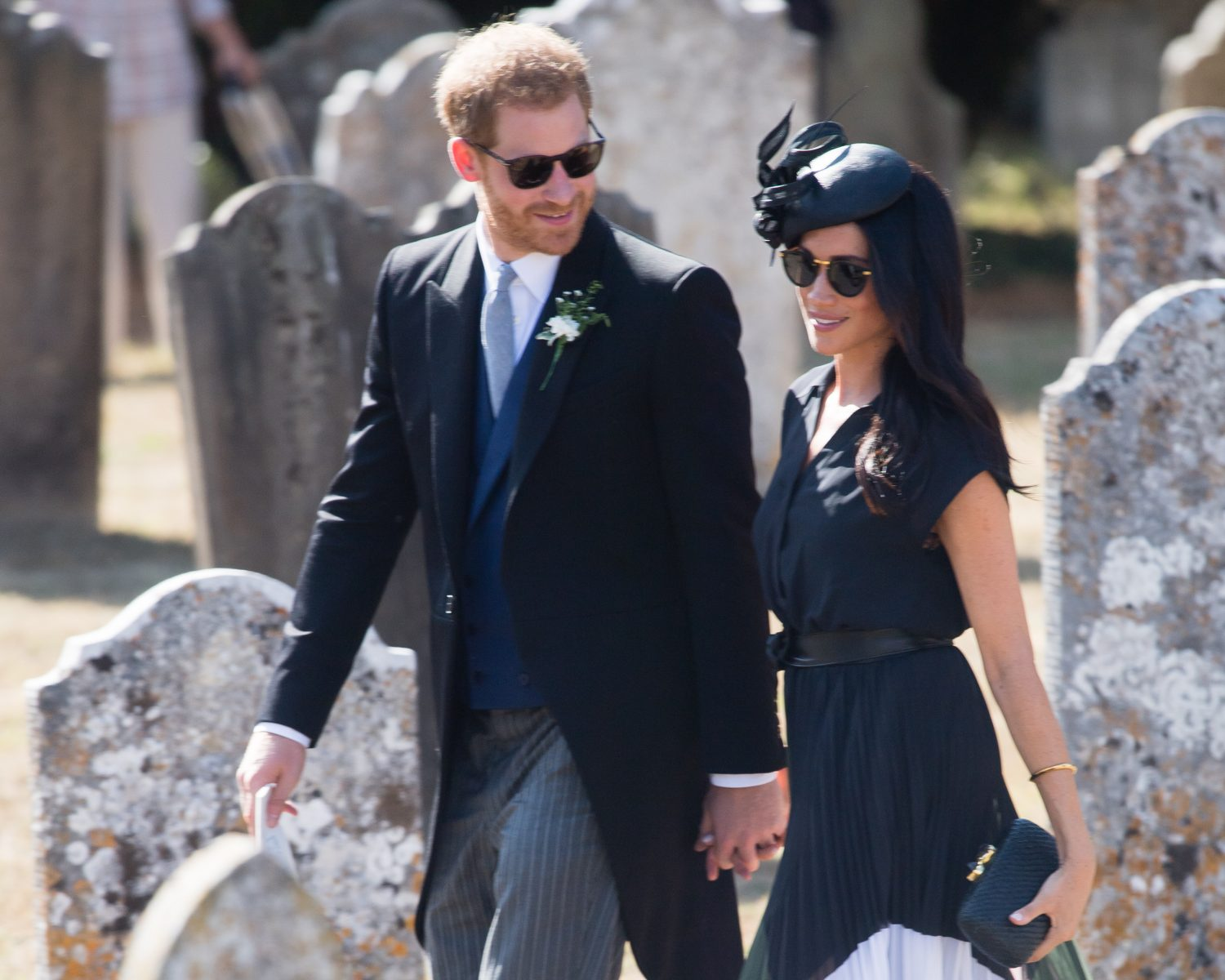 Frensham United Kingdom August 04 Prince Harry Duke Of Sus And Meghan Ss Attends The Wedding Charlie Van Straubenzee On 4