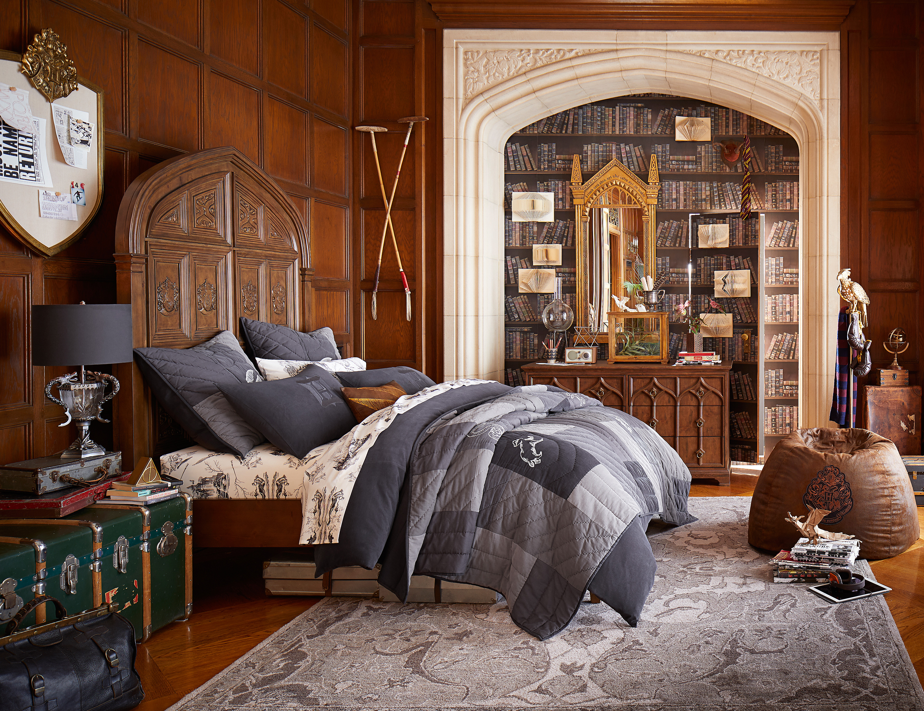 harry potter and pottery barn s collection is wedding registry magic. Black Bedroom Furniture Sets. Home Design Ideas