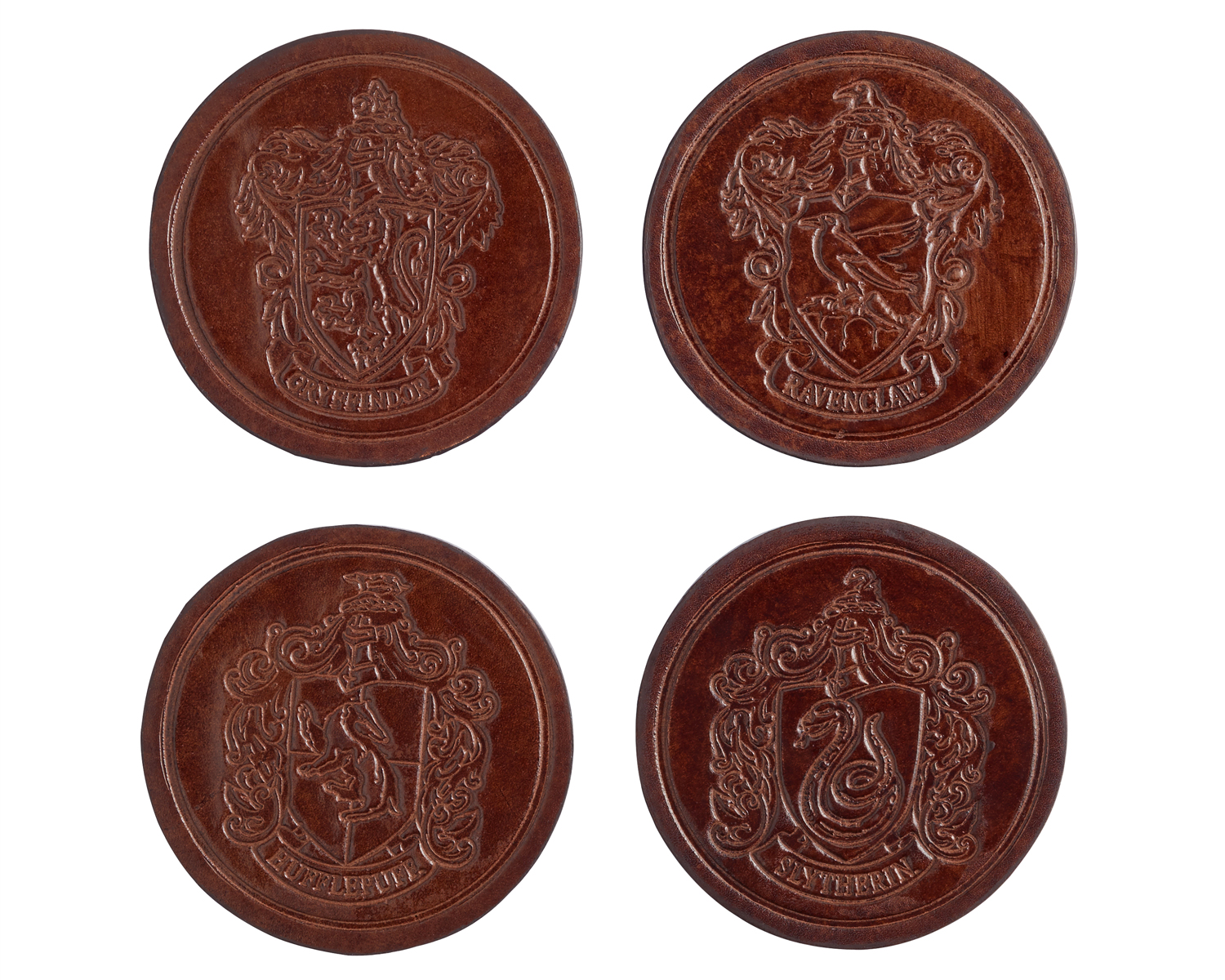 harry potter pottery barn holiday collection leather coasters
