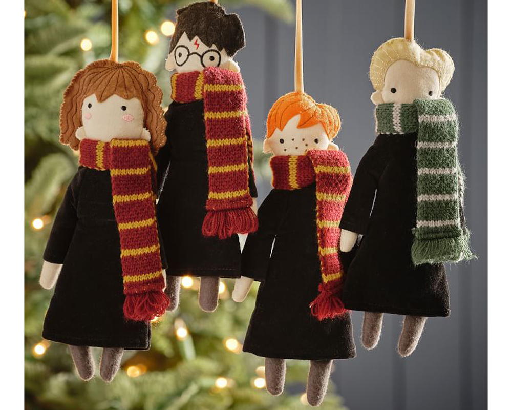 harry potter pottery barn holiday collection plush ornaments