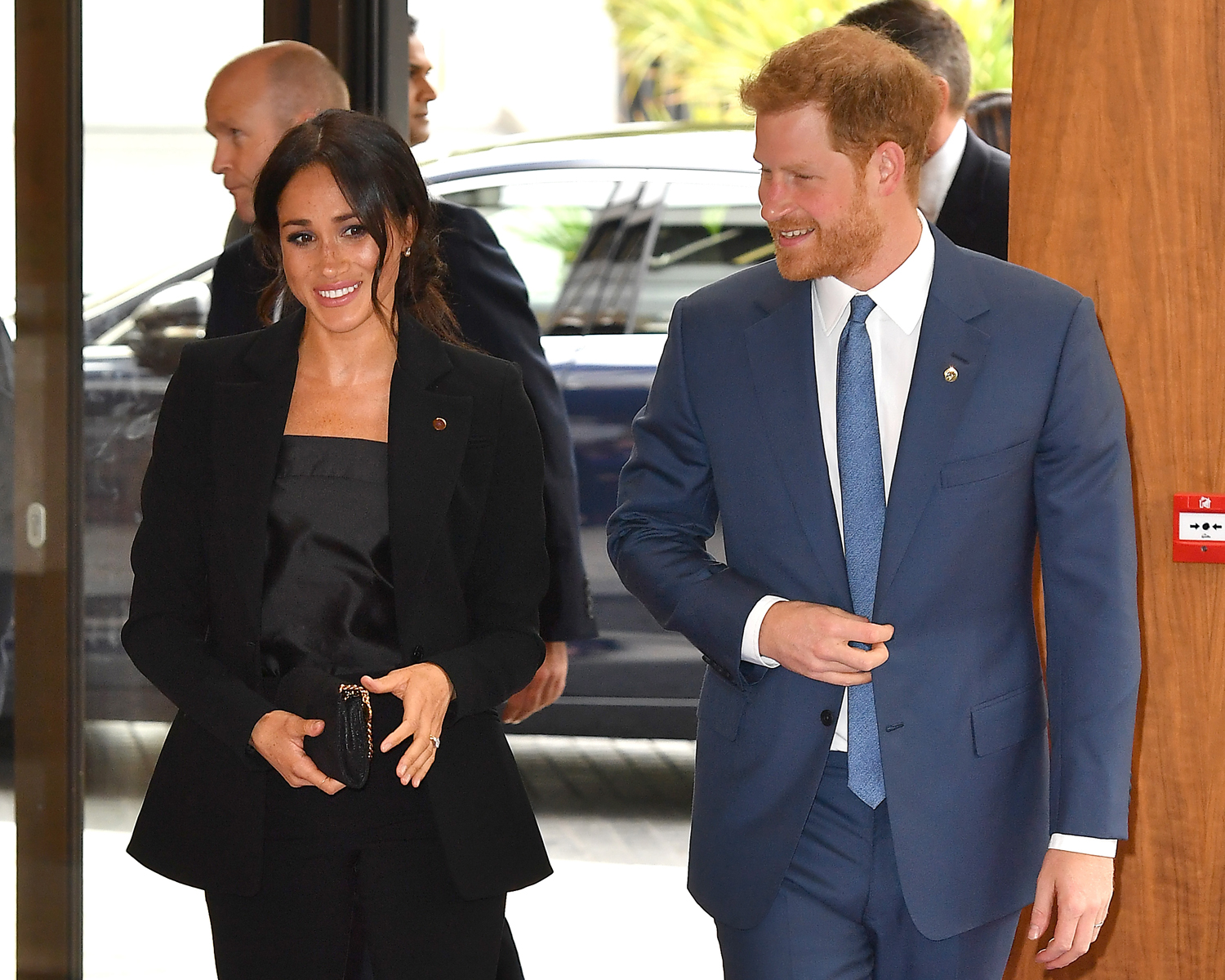 harry meghan power suits