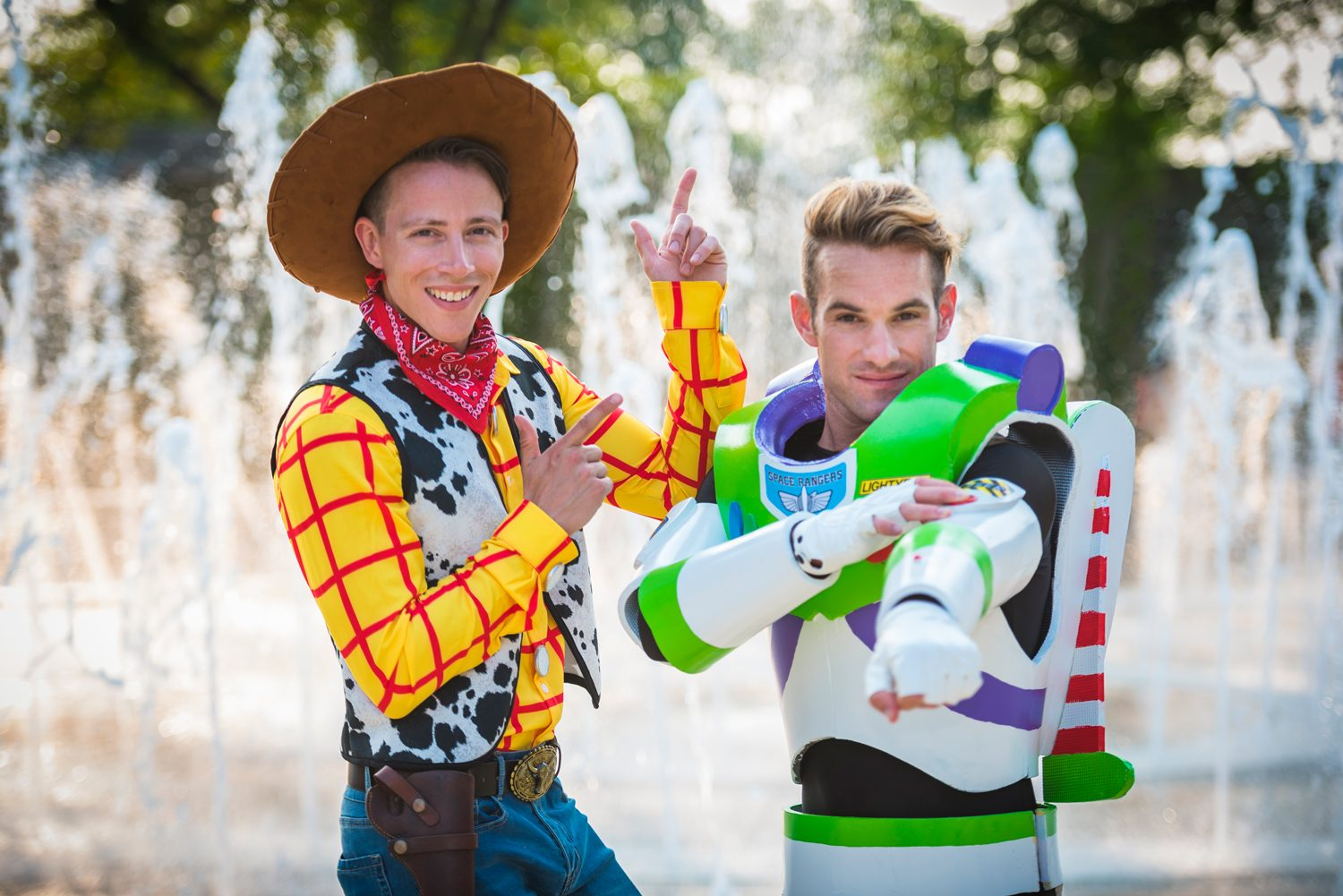 These Grooms Dressed As Buzz Lightyear And Sheriff Woody In Their Disney Themed Wedding