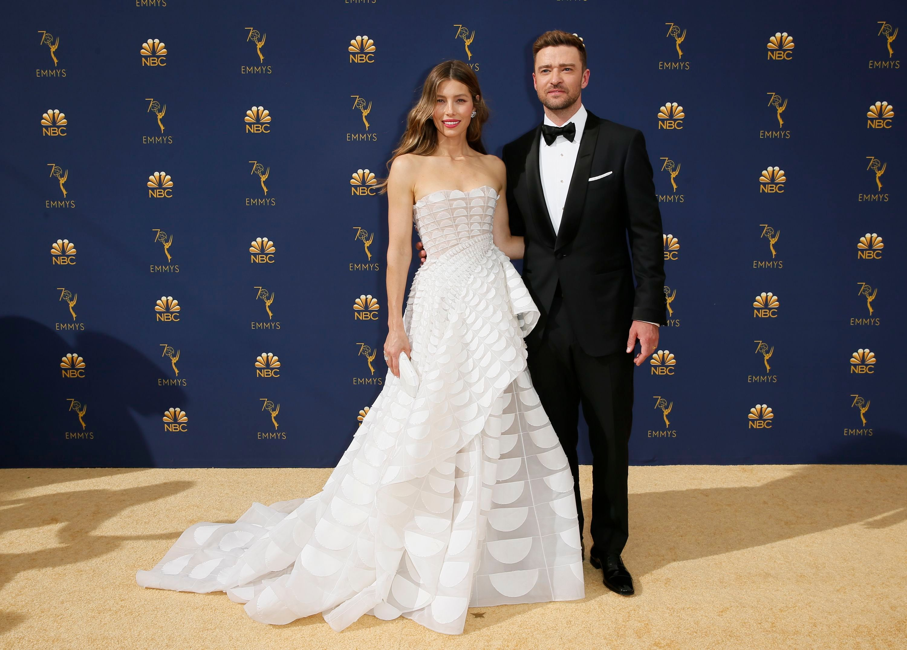 jessica biel and justin timberlake at the 2018 emmys quoti