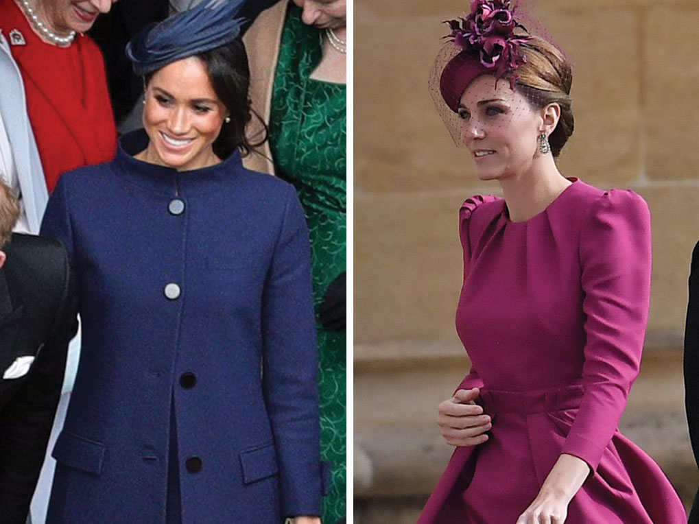 48fdb263 Meghan Markle and Kate Middleton attend Princess Eugenie's wedding on  October 12, 2018. (Shutterstock.com)