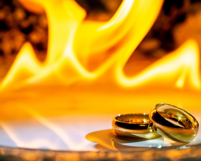 wedding fire wedding bands