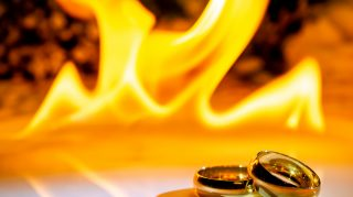 wedding fire wedding bands