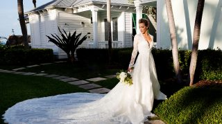 katie cassidy wedding dress