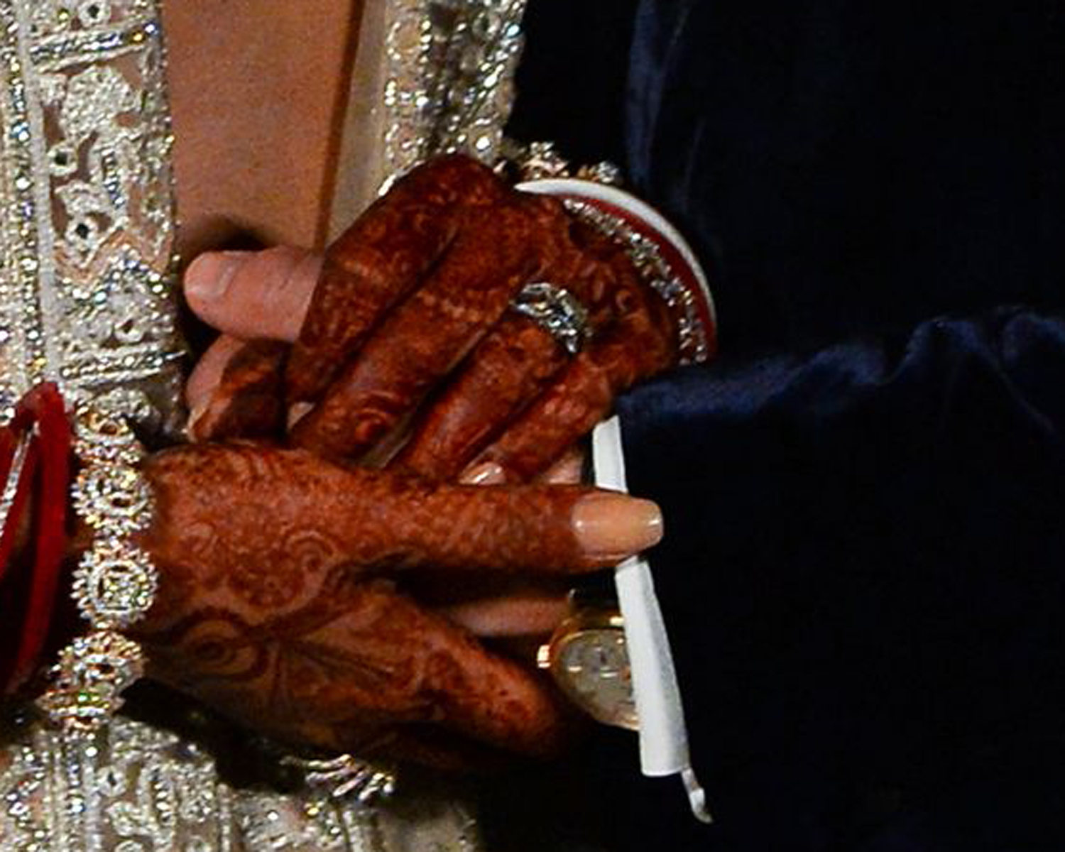 See How Priyanka Chopra Stacked Her Wedding Band And Engagement Ring