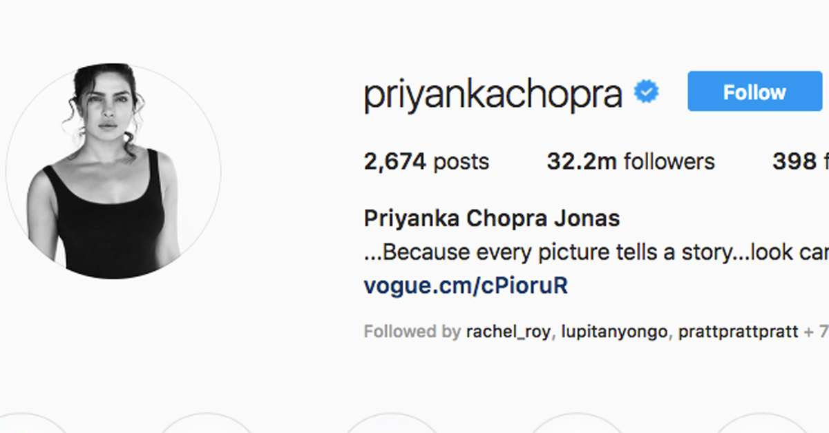 priyanka chopra name instagram
