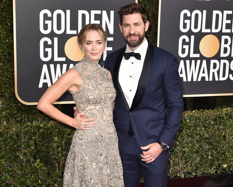 John Krasinski Adorably Cheers On Emily Blunt In Viral Golden Globes Meme