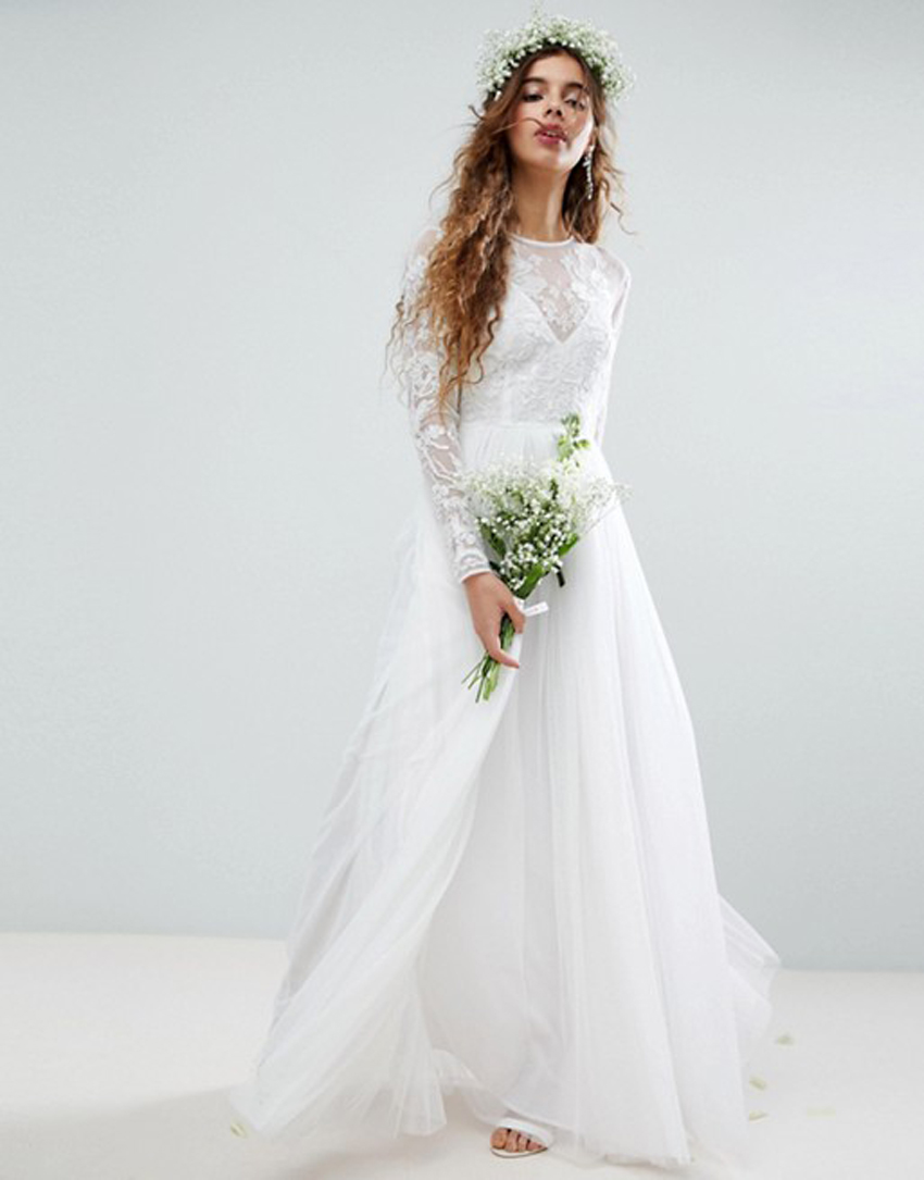 83149ea635e Here s all the proof you need that you can be a boho bride on any budget.  (Credit  ASOS). ASOS Edition embroidered bodice wedding maxi dress ...