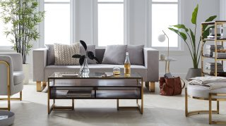 MoDRN's Retro Glam Living Room walmart