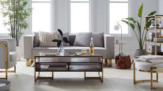 MoDRN's Retro Glam Living Room walmart