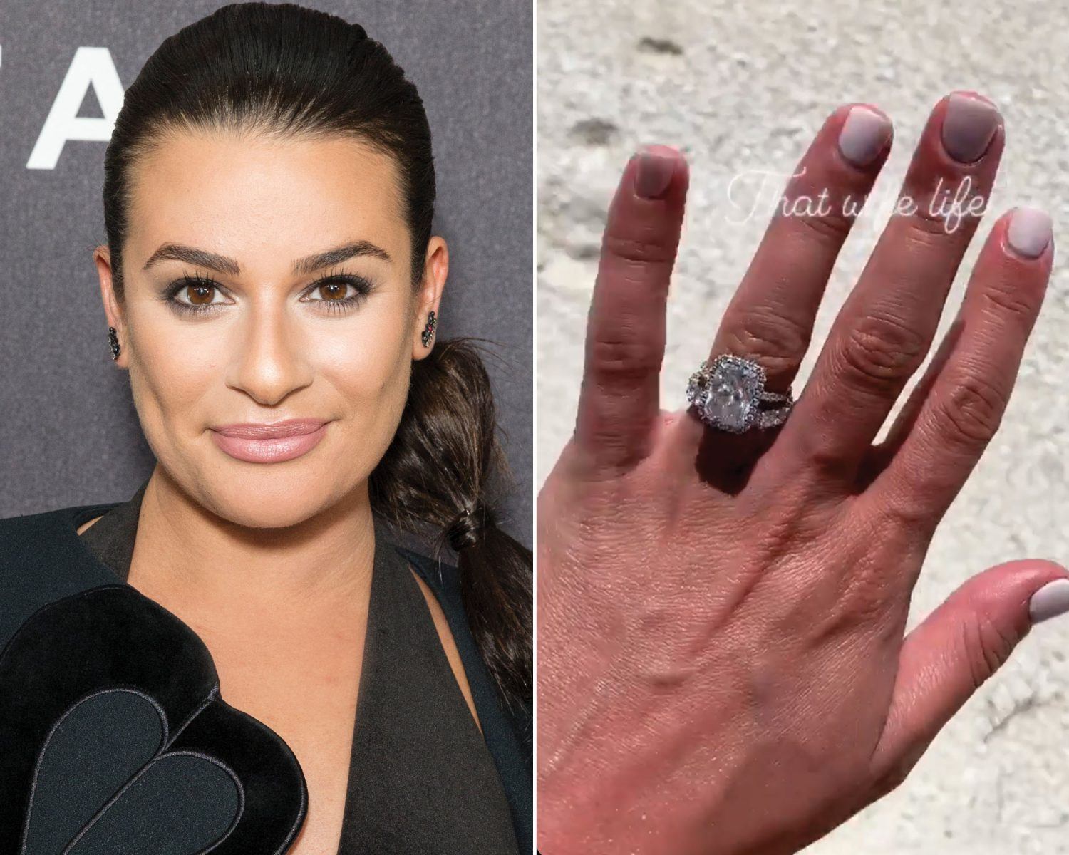 Glee's Lea Michele Debuts Her Dazzling Wedding Band: See How She Stacked Her Ring