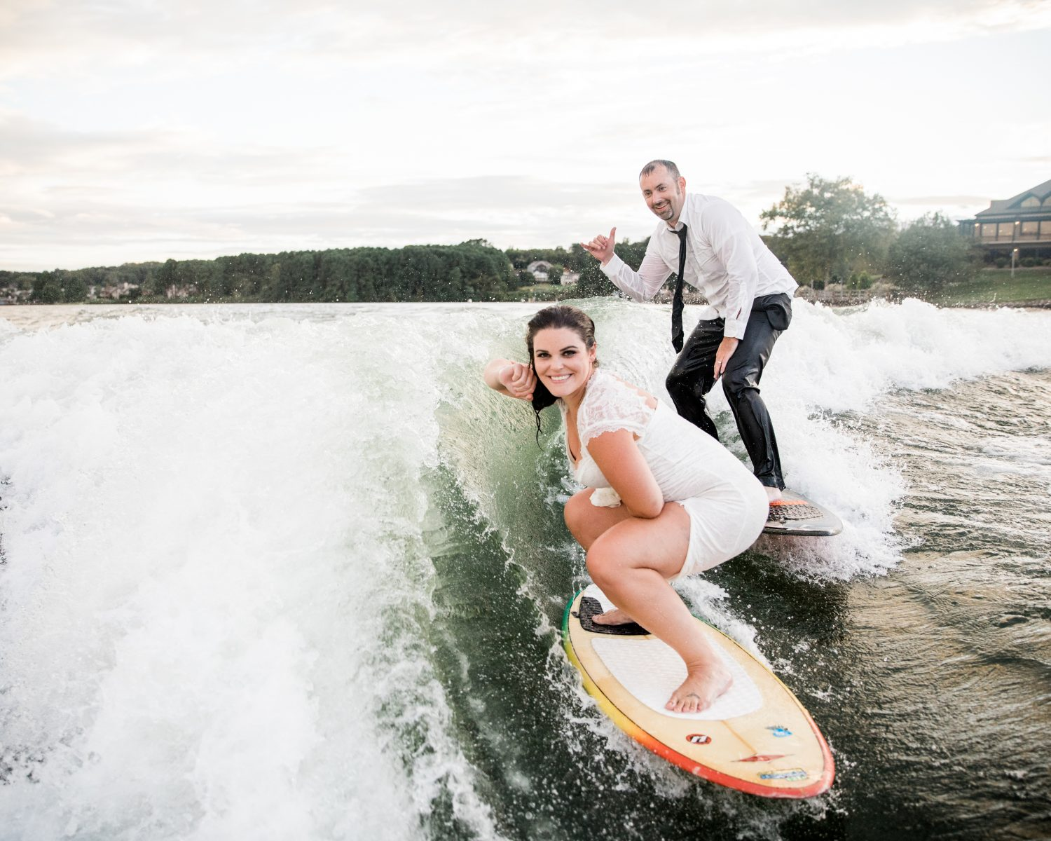 Exclusive: Couple's First Surf Replaces First Look at Their Wedding