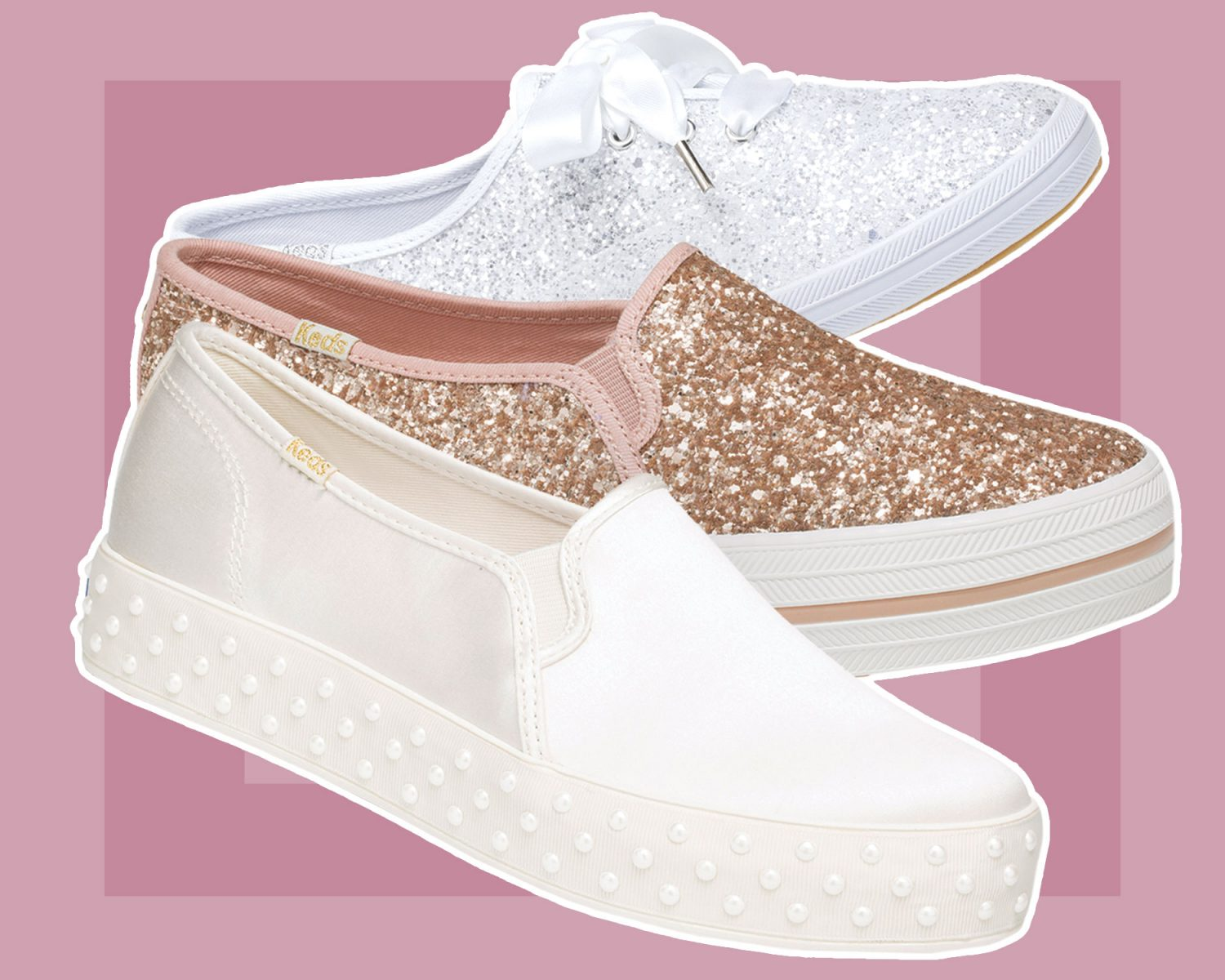 58269f095b37 Kate Spade and Keds Just Dropped Another Wedding Sneaker Collection