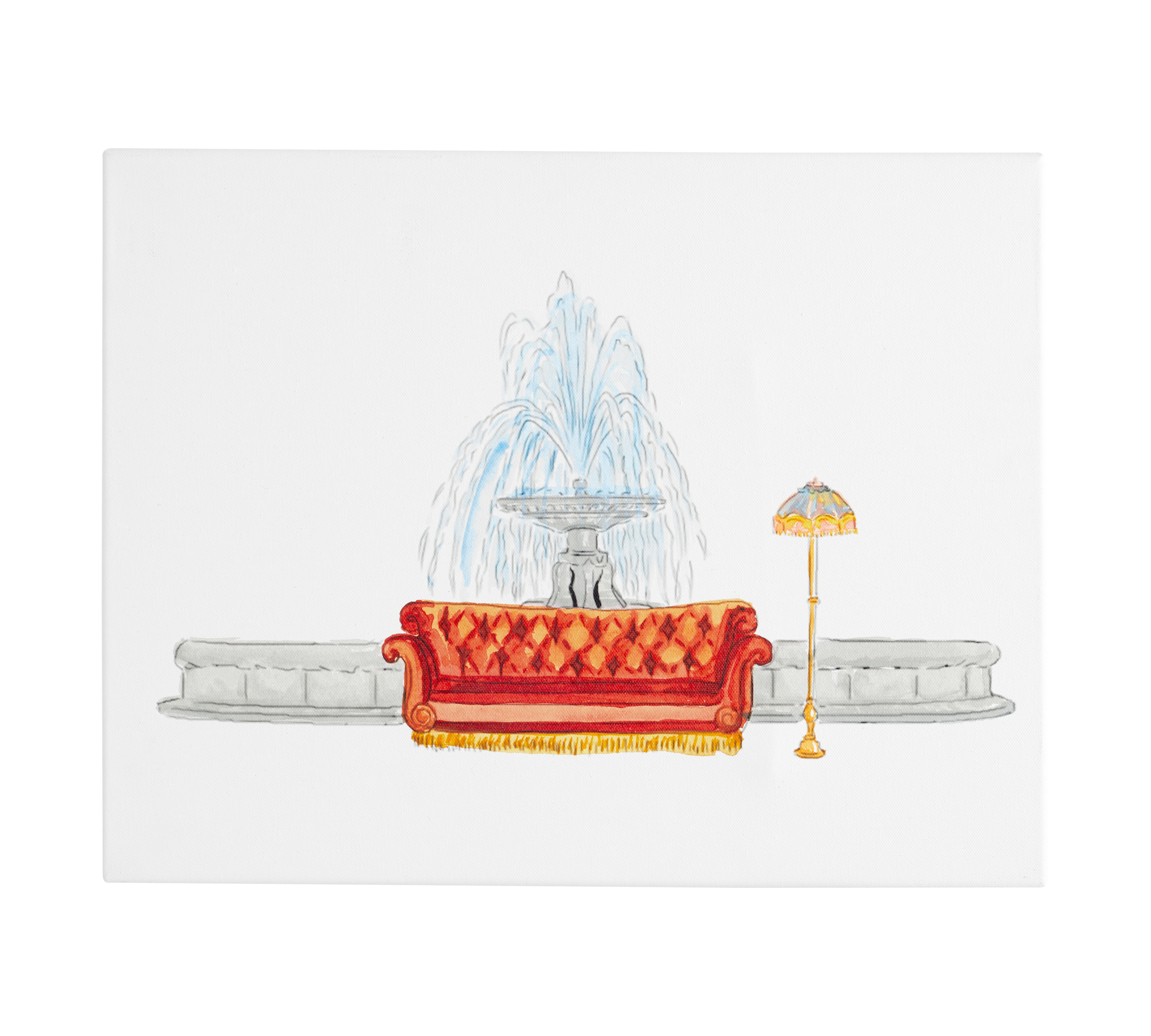 fountain wall art canvas
