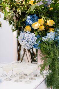 classic blue hydrangeas