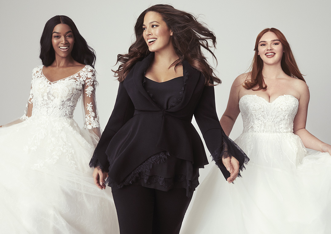 ashley graham and pronovias wedding dress