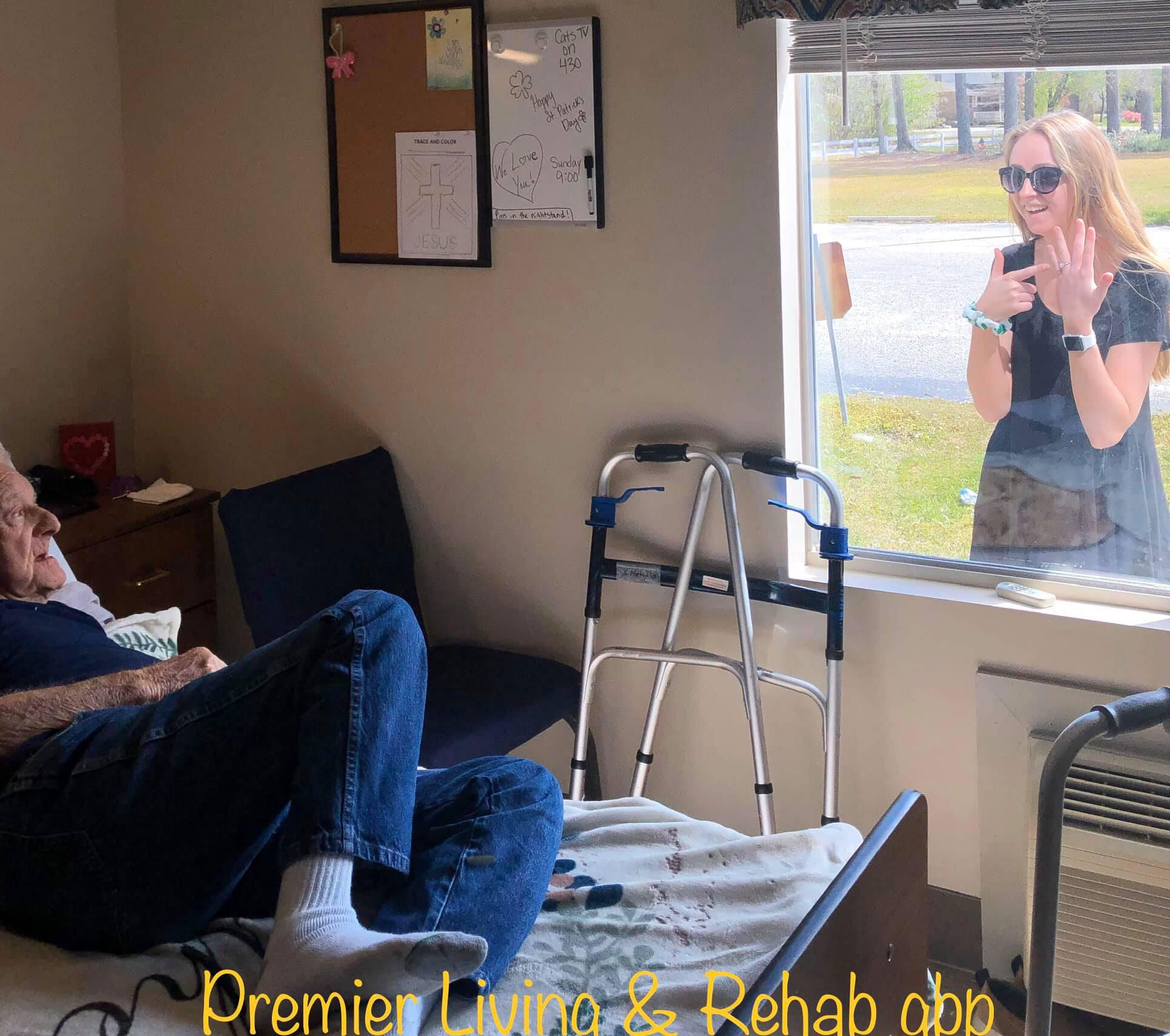 Woman Tells Grandfather She's Engaged Through Window Amid Coronavirus Pandemic